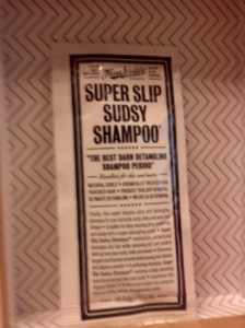 super slip sudsy shampoo