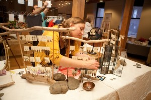 Photo from the 2012 Salt Market event courtesy of Joe Lingeman with artist is Laurel O'Brien.