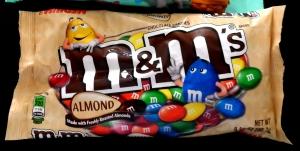 m&ms almond